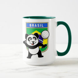 Combo Mug with Brazil Volleyball Panda design