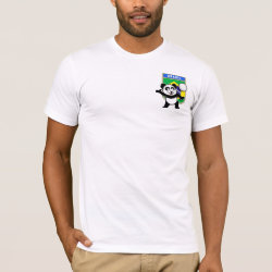 Men's Basic American Apparel T-Shirt with Brazil Volleyball Panda design