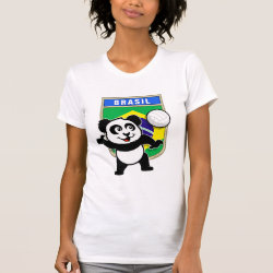 Brazil Volleyball Panda Women's American Apparel Fine Jersey Short Sleeve T-Shirt