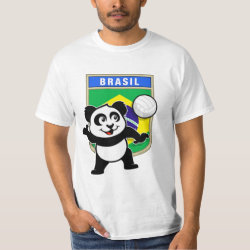 Brazil Volleyball Panda Men's Crew Value T-Shirt