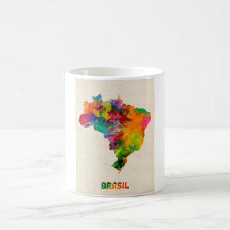Brazil Watercolor Map Coffee Mug