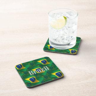 Brazil Waving Flag Beverage Coaster