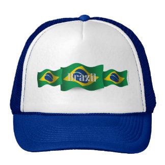 Brazil Waving Flag Hat