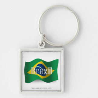 Brazil Waving Flag Key Chains