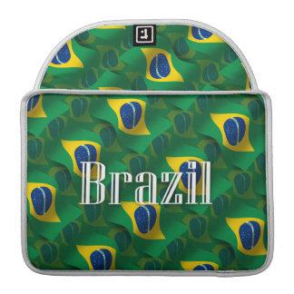 Brazil Waving Flag MacBook Pro Sleeve