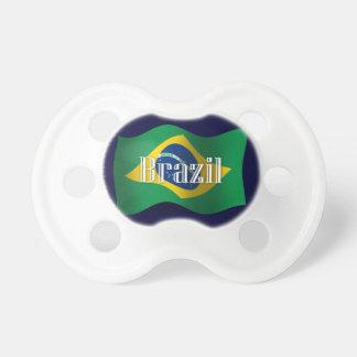 Brazil Waving Flag Baby Pacifier