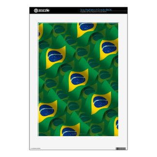 Brazil Waving Flag PS3 Console Skins