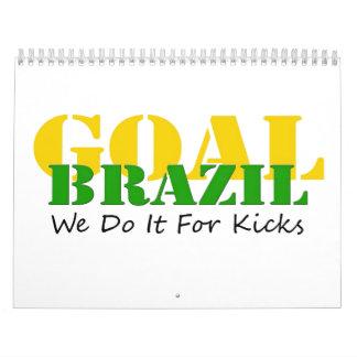 Brazil - We Do It For Kicks Wall Calendar