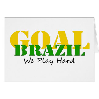 Brazil - We Play Hard Card