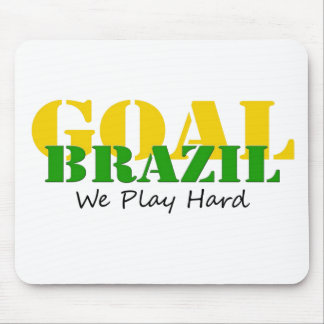 Brazil - We Play Hard Mouse Pad