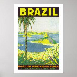 Brazil (white) poster