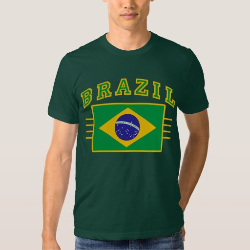 Brazil with Flag Tees