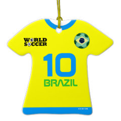 Brazil World Cup Soccer Jersey Ornament ornament