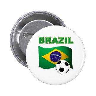 Brazil World Cup T-Shirt Flag Button