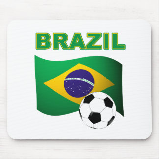 Brazil World Cup T-Shirt Flag Mouse Pad