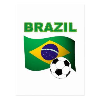 Brazil World Cup T-Shirt Flag Postcard