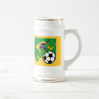 BRAZIL World Soccer Fan Tshirts Beer Stein