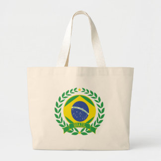 Brazil Wreath Large Tote Bag