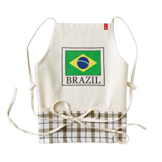 Brazil Zazzle HEART Apron