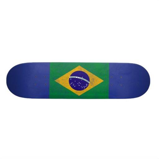 Brazile Vintage Flag Skateboard
