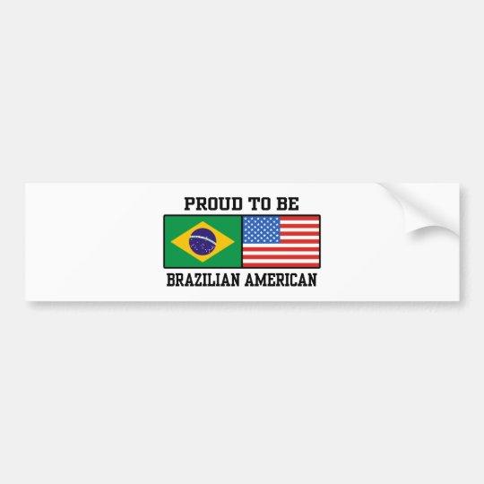 Brazilian American Bumper Sticker