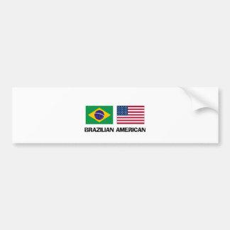 Brazilian American Car Bumper Sticker
