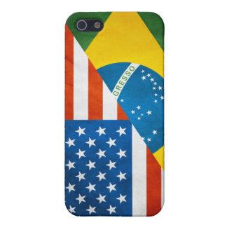 Brazilian/ American Flag Iphone 4 Case