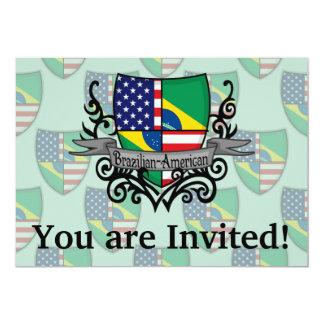 Brazilian-American Shield Flag Card