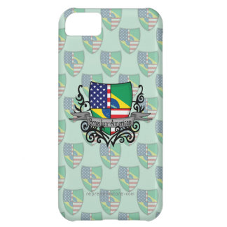 Brazilian-American Shield Flag Cover For iPhone 5C