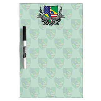 Brazilian-American Shield Flag Dry Erase Board