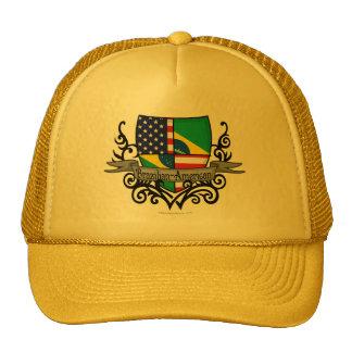 Brazilian-American Shield Flag Trucker Hats
