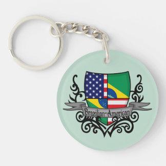 Brazilian-American Shield Flag Acrylic Keychains