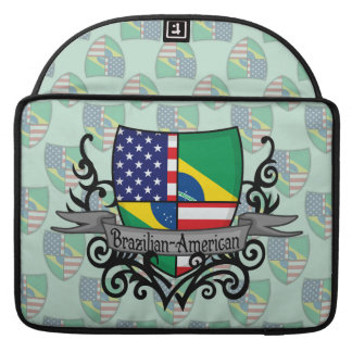 Brazilian-American Shield Flag Sleeves For MacBook Pro