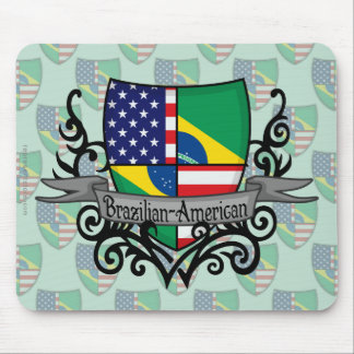 Brazilian-American Shield Flag Mouse Pad