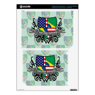 Brazilian-American Shield Flag Decals For The Wii