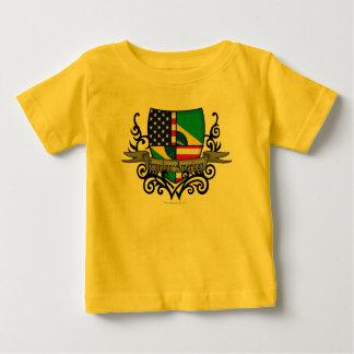 Brazilian-American Shield Flag T Shirt