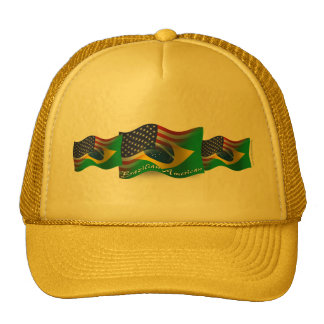 Brazilian-American Waving Flag Hats