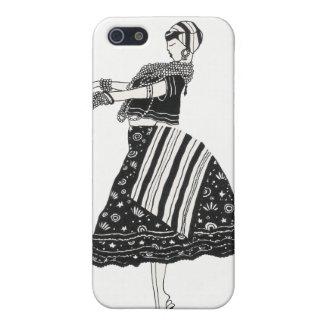 Brazilian Baiana B&W Watercolor Case For iPhone 5