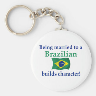 Brazilian Builds Character Basic Round Button Keychain