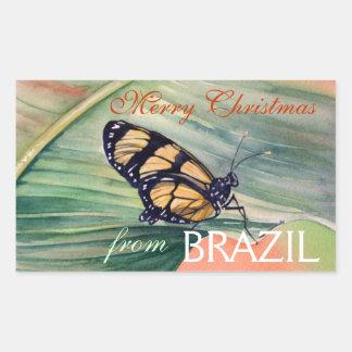 Brazilian Butterfly Christmas Stickers