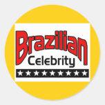 Brazilian Celebrity Round Stickers