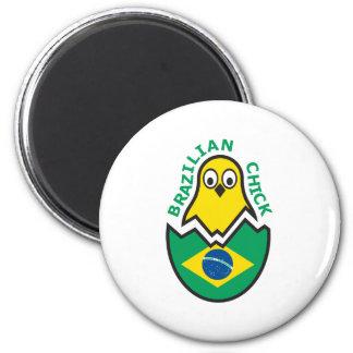 Brazilian Chick 2 Inch Round Magnet