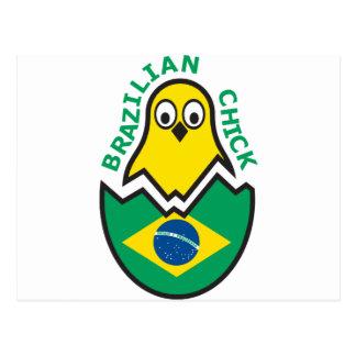 Brazilian Chick Postcard
