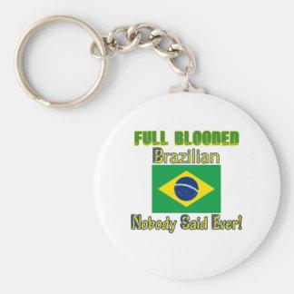 brazilian citizen design basic round button keychain
