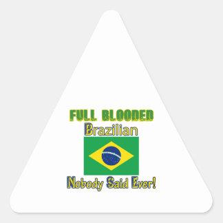 brazilian citizen design triangle sticker