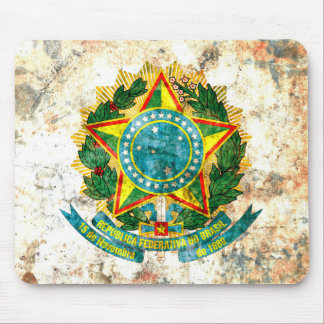 Brazilian Coat of Arms Mouse Pad