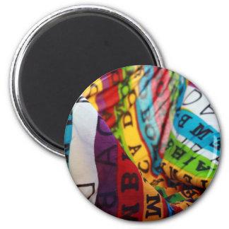 brazilian colored lifestyle fridge magnet