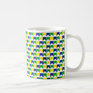 Brazilian colours flag coffee mug