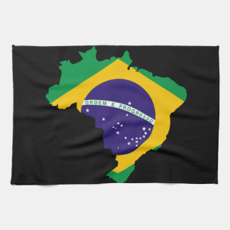Brazilian country flag kitchen towel
