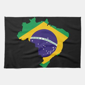 Brazilian country flag towel